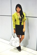 yellow Shop My Demeanor blazer - white Guess bag