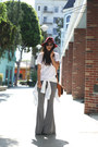 James Perse shirt - rayban sunglasses - Urban Outfitters pants