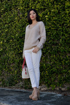 Derek sweater - calvin klein bag - Mango pants - Aldo heels