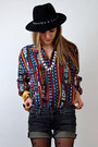 Black-chain-forever-21-hat-ruby-red-ethnic-rossck-paper-vintage-shirt-black-