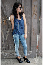 blue vintage from Rock Paper Vintage jeans - blue maj top