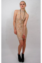 nude 90s body con vintgae from Rock Paper Vintage dress