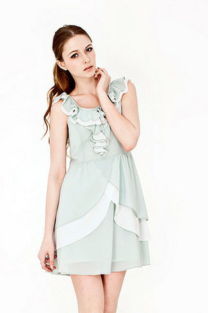 ruffled chiffon The1727 dress