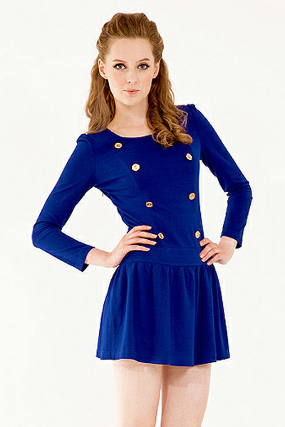 royal blue knit The1727 dress