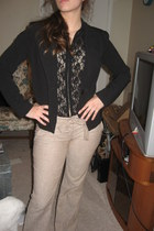 thrifted Charlotte Russe pants - thrifted blouse