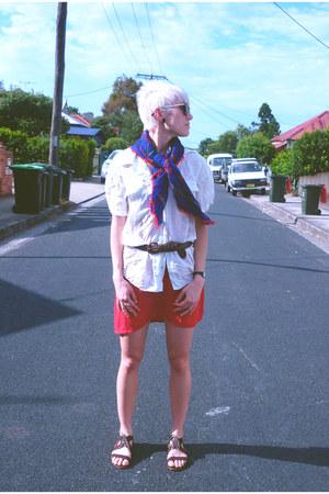 silk blouse - rayon DIY dress - wool scarf