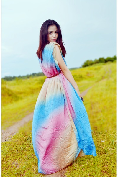 bubble gum colorful Malaysian Brand dress