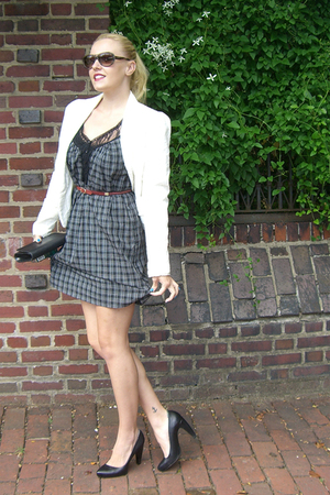 Only hearts dress - Zara blazer - Givenchy purse - balenciaga shoes - Chloe sung