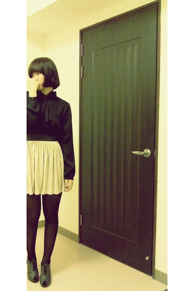 blouse - skirt - tights - shoes