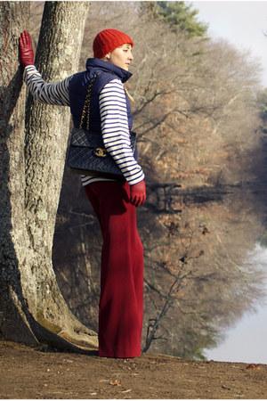 Chanel bag - St James shirt - Zara pants - vintage vest