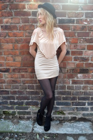 neutral The Pokey Hat dress - black Primark boots - black bowler hat H&M hat