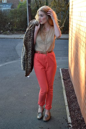 coral coral chinos Fashion Union pants - gold vintage shoes