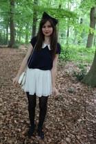 vintage bag - H&M shorts - Maggie  me blouse - Topshop flats