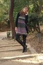 Dress-purse-boots-leggings