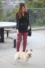 Maroon-topshop-jeans-black-vintage-sweater-black-nasty-gal-bag