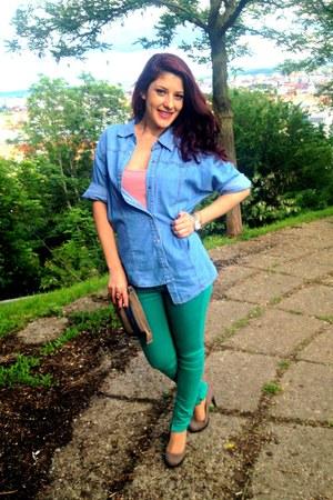 Bata shoes - green Bershka jeans - jeans Giani Jeroti jacket