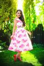 Pink-asos-dress-red-miu-miu-heels
