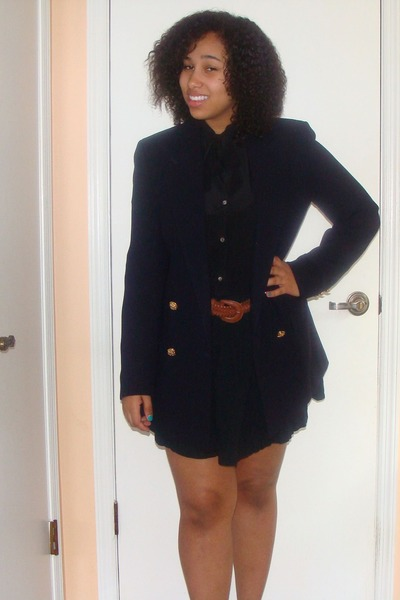 fish tail belt H&amp;M belt - Ralph Lauren blazer - H&amp;M skirt - Forever 21 blouse
