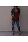 Red-tag-blazer-shirt-forever-21-jeans-aldo-shoes