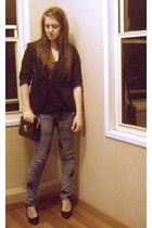 Opp shop blazer - Hand Made top - Valley Girl jeans - Opp shop purse - K-mart sh