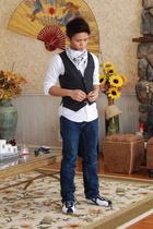 Diesel vest - Urban Outfitters scarf - a&f shirt - Capezio shoes