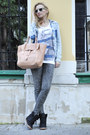 Zara-shirt-lapalette-bag-ray-ban-sunglasses-koton-pants-topshop-sneakers