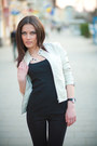 Eggshell-jacket-black-pants