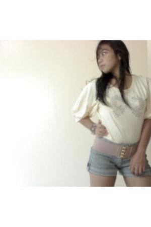 blouse - belt - shorts