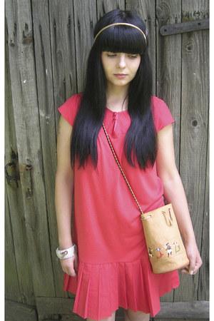 Vinatge dress - Vinatge bag