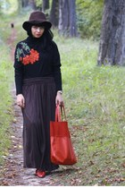 vintage hat - maxi united colors of benetton skirt - Solar blouse