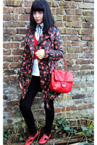 red new look coat - red office london shoes