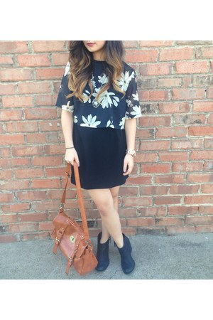 ankle boots Aldo boots - cut out Forever 21 dress