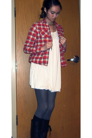 unknown dress - American Eagle shirt - JCrew tights