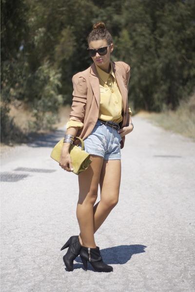 bronze Zara blazer - bronze Oysho shorts