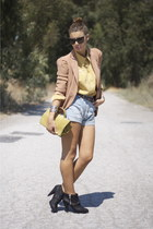 bronze Zara blazer - bronze Oysho shorts