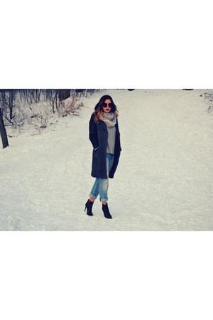 wool leather Aritzia coat