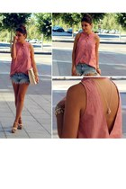 pull&bear shirt - BLANCO bag - Zara shorts