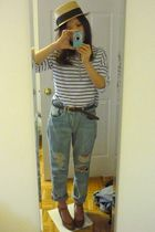 LDS hat - H&M shirt - Urban Outfitters jeans - Lowrys Farm shoes - vintage belt