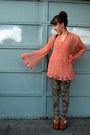 Pink-vintage-diy-blouse-army-green-camo-pants-pants