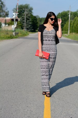 black maxi Forever 21 dress - red Call it Spring bag