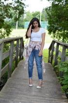 boyfriend Target jeans - crossbody Dresswe bag - pointed toe Tobi heels