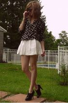 black Target cardigan - white f21 dress - green f21 sunglasses - black