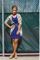 Forever21 dress - Forever21 belt - Forever21 cardigan - Forever21 heels