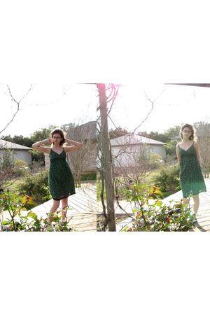 green derek heart dress