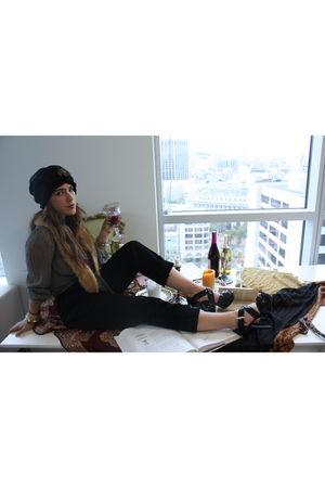 BCBG accessories - vintage blouse - American Apparel pants - Michael Kors shoes