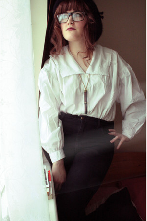 white Laura Ashley shirt