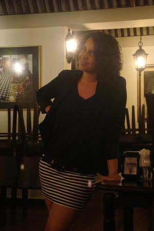 blazer - belt - dress