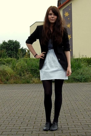 thrifted blazer - American Apparel shirt - Zara skirt