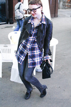 liu jo jacket - DKNY shoes - H&M jeans - Ray Ban glasses
