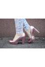White-c-a-blouse-pink-h-m-shoes-periwinkle-h-m-blazer